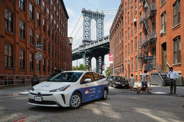 Aclima sensing vehicle that analyses air quality in Brooklyn block-by-block