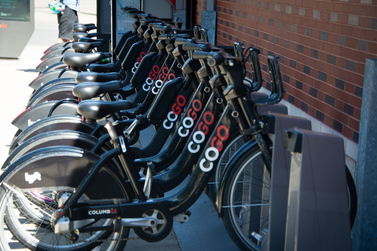 CoGo conventional and e-bikes are one of the options available at the mobility hubs