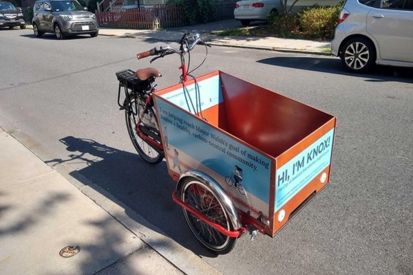 Boston rolls out its first electric-assist cargo tricycle