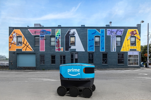 Amazon expands robot delivery tests to Atlanta and Franklin
