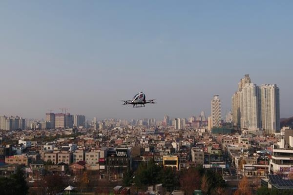 EHang completes maiden flights of two-seater air taxi in South Korea