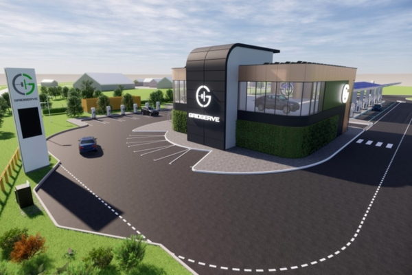 How the UK' first electric forecourt will look when it opens in November