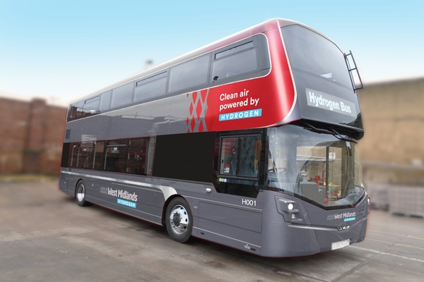 A mock-up of the hydrogen bus. Image: National Express