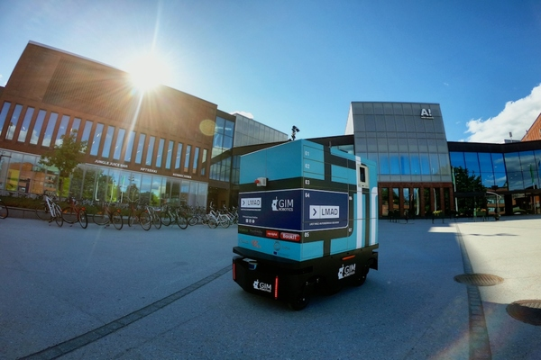 Last mile delivery robot deployed on university campus