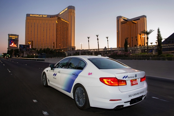 The Las Vegas service consists of Motional robotaxis, operating on the Lyft network