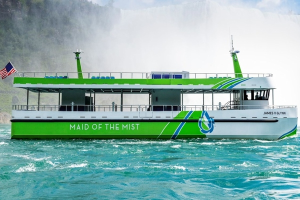 The all-electric Maid of the Mist vessels have entered service