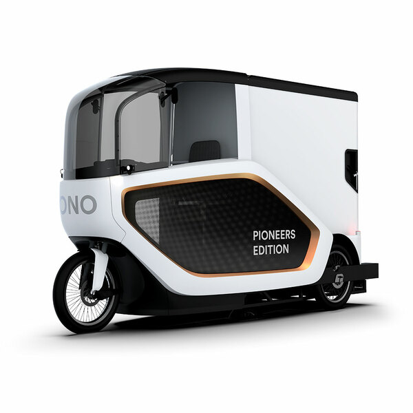 The electric transporter combines the flexibility of a bicycle with the capacity of a transport van