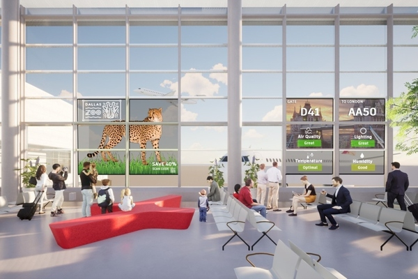 "Dallas airport installs smart glass to create ""gate of the future"""