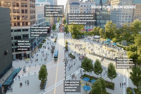 Manhattan unveils plan to create more open space in Union Square