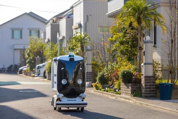 The first phase involves a self-driving robot on the prefecture's public roads