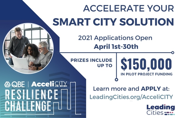 Start-ups invited to enter 2021 QBE AcceliCITY Resilience Challenge