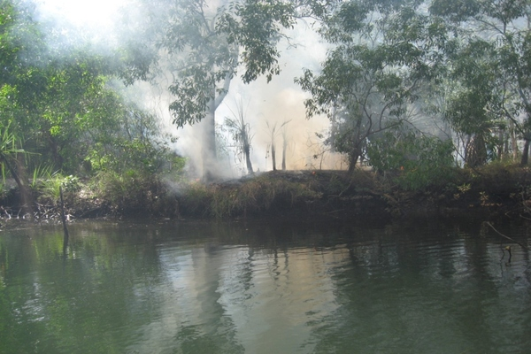 Traditional burning methods being employed in the Tiwi Island Carbon Project