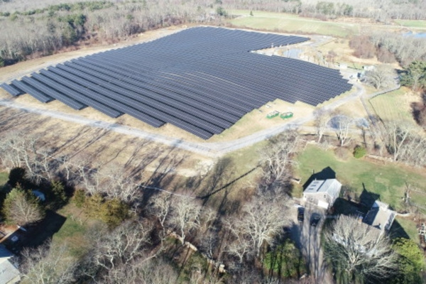 Tiverton's solar energy site, built on a former cornfield in Rhode Island